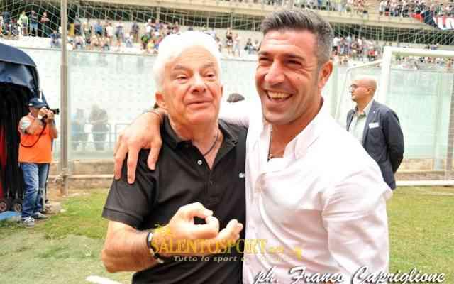 Bongiovanni e Montervino, dirigente e DS del Taranto (F. Capriglione per Salento Sport)