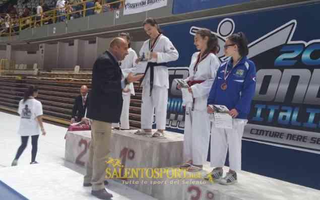 premiazione chiara mazzotta taekwondo