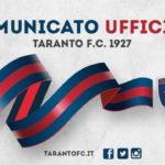 Comunicato ufficiale Taranto