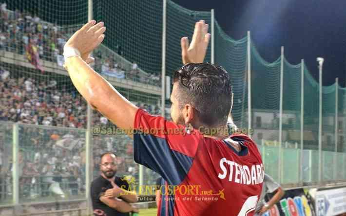 Stendardo, autore del primo gol stagionale del Taranto (@F. Capriglione per Salento Sport)