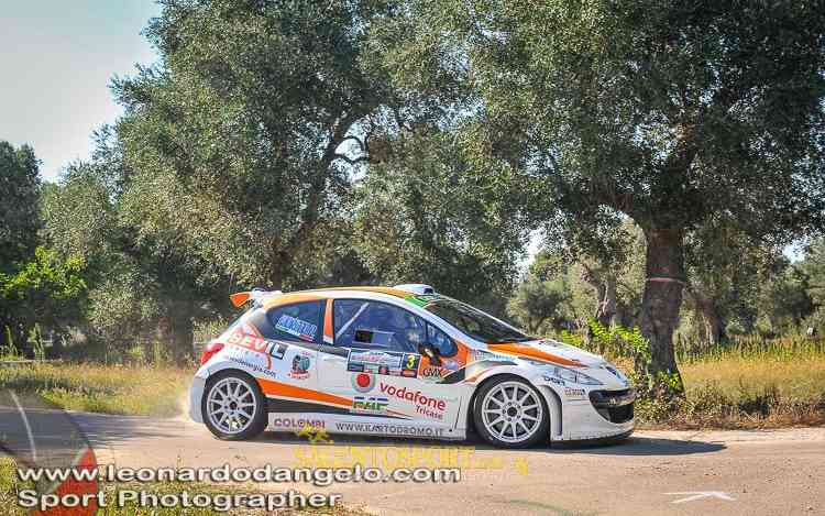 La Peugeot 207 in dotazione al team di Tricase