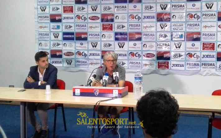 Aldo Papagni in conferenza (@Salento Sport)