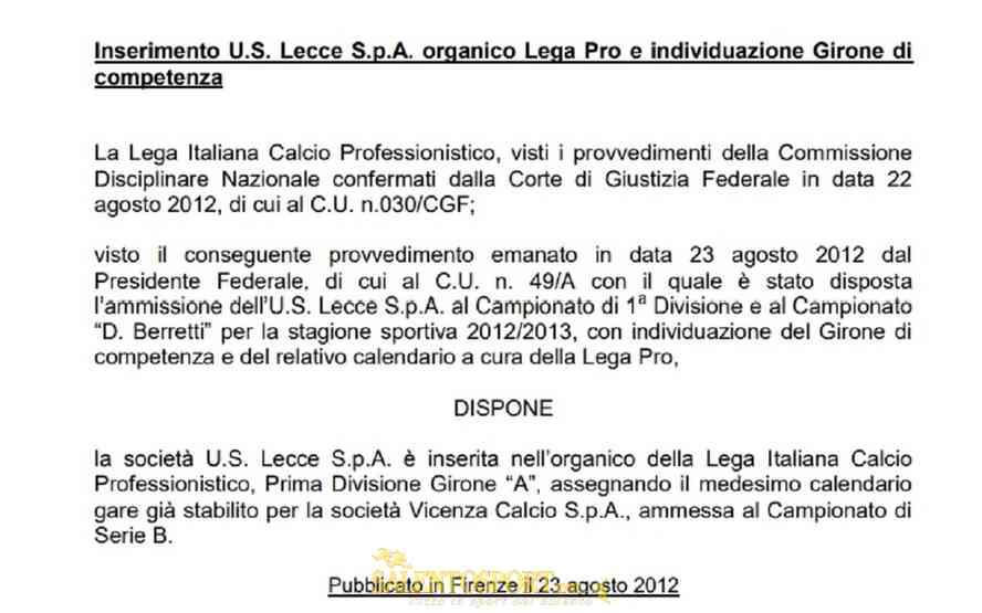 comunicato-lecce-lega-pro-ago-2012