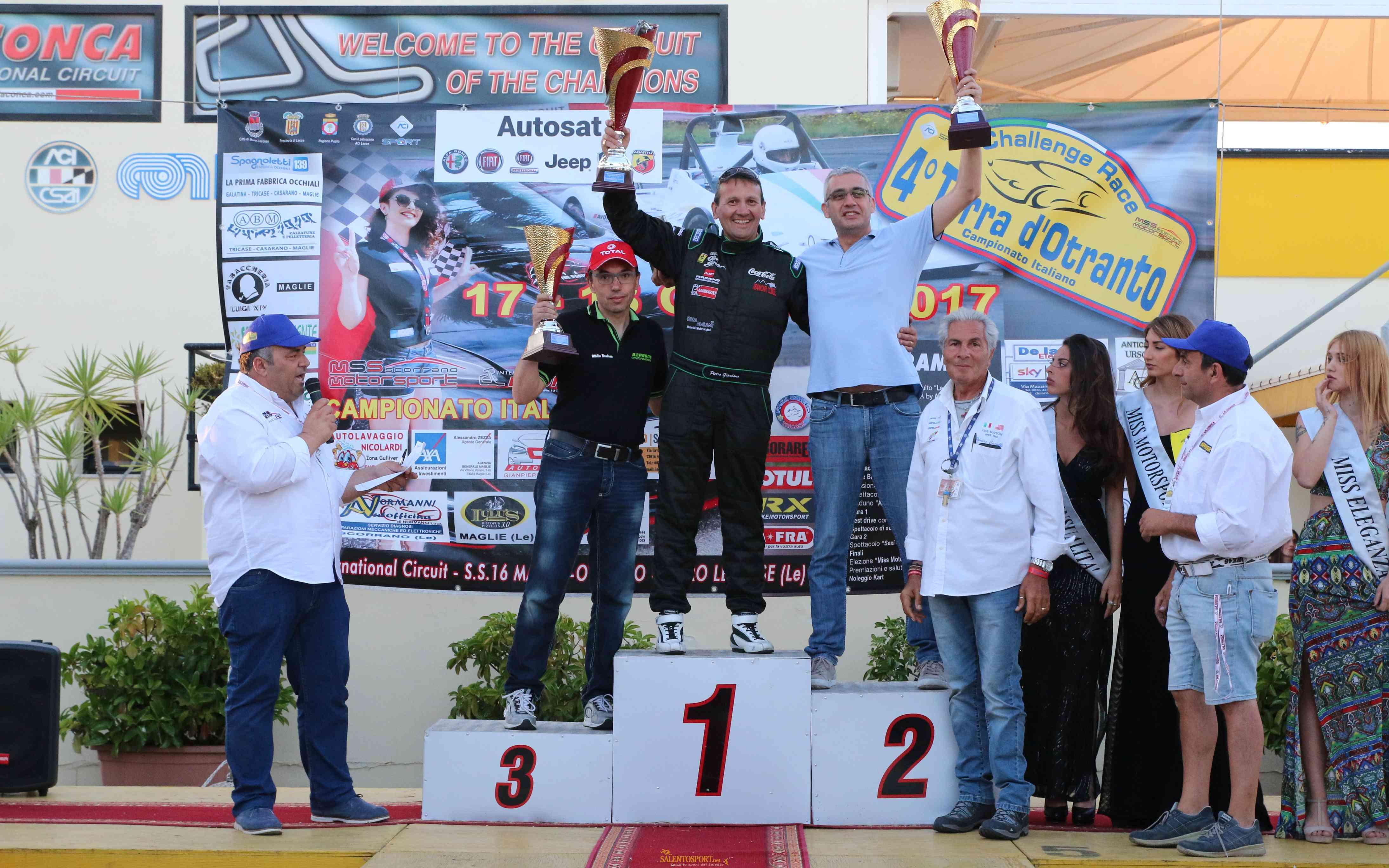formula-challenge-terra-otranto-2017-podio ph c. gerundio (podio: Pietro Giordano (vincitore della gara 2017), il vice-campione Domenico D'Amico ed il terzo assoluto Attilio Barbone)